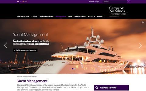 Screenshot of Team Page camperandnicholsons.com - Superyacht Management | Luxury Yacht Management | Camper & Nicholsons Int. - captured Sept. 24, 2014