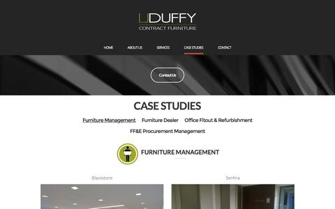 Screenshot of Case Studies Page ljduffy.com - Furniture Management – LJ Duffy, Inc. - captured Oct. 12, 2016