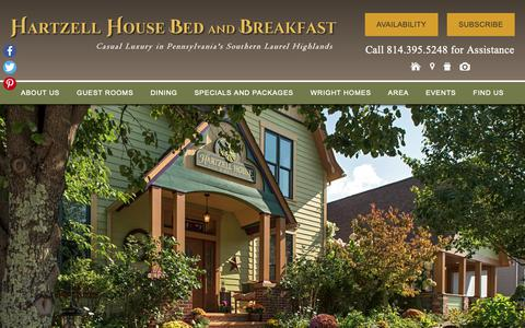 Screenshot of Contact Page Maps & Directions Page hartzellhouse.com - Find Our Bed and Breakfast Lodging near Ohiopyle PA & Deep Creek Lake MD - captured Oct. 31, 2018