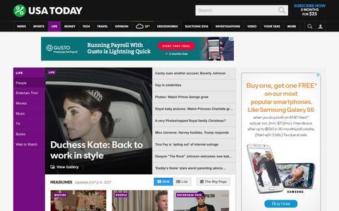 Screenshot of Team Page usatoday.com - Celebrity Photos, Videos and Interviews - USATODAY.com - captured Dec. 21, 2015