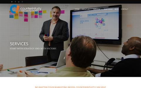Screenshot of Services Page counterintuity.com - Marketing Services | Counterintuity | Burbank, CA - captured March 4, 2016