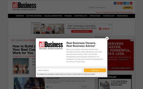 Screenshot of Support Page allbusiness.com - Customer Service | AllBusiness.com - captured Sept. 21, 2018
