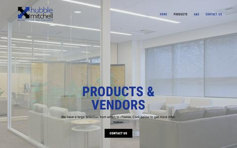 Screenshot of Products Page hubblemitchell.com - Products — Hubble Mitchell Business Interiors - captured Feb. 1, 2016