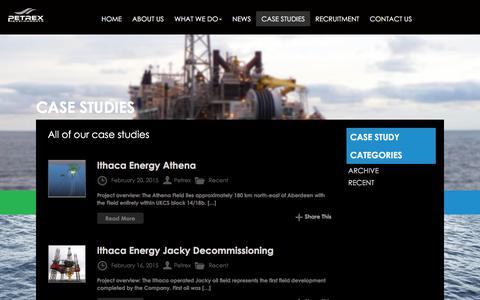 Screenshot of Case Studies Page petrex.co.uk - Case Studies | Petrex LtdPetrex People Make The Difference - captured Dec. 8, 2015