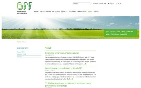 Screenshot of Press Page bpf.eu - News :: BPF - captured Oct. 5, 2014