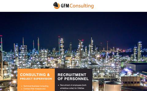 Screenshot of Home Page gfmconsulting.org - GFM Consulting   Vienna   Management - captured Sept. 26, 2018