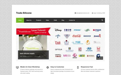 Screenshot of Home Page trade-silicone.com - silicone mold,silicone case,silicone ice cube tray,silicone handbag,diy gift - captured Sept. 30, 2014