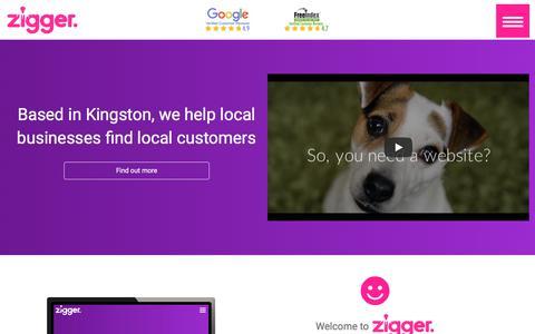 Screenshot of Home Page ziggerwebdesign.co.uk - Zigger - local web design for Surrey - captured Nov. 10, 2017