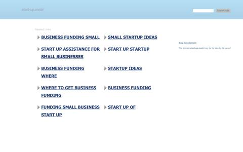 Screenshot of Home Page start-up.mobi - start-up.mobi-This website is for sale!-start-up Resources and Information. - captured Oct. 20, 2018