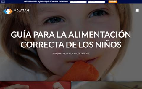 Screenshot of Home Page mdlatam.org - MDlatam | Salud en Español - captured Sept. 13, 2014