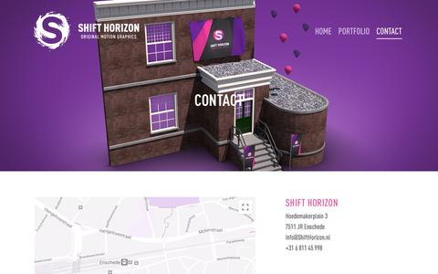 Screenshot of Contact Page shifthorizon.nl - Contact – Shift Horizon - captured Sept. 20, 2018