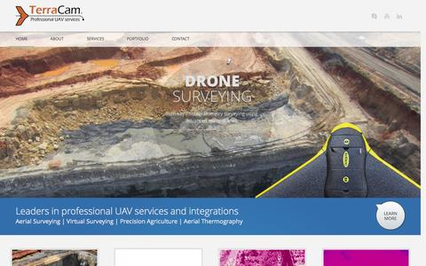 Screenshot of Home Page terracam.co.za - TerraCam | Professional UAV Services - captured Oct. 9, 2014