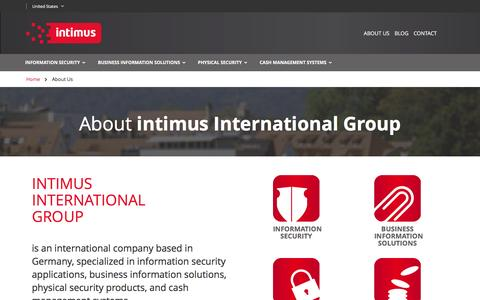 Screenshot of About Page intimus.com - About Us - captured Sept. 26, 2016