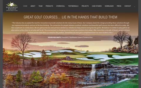 Screenshot of Home Page southwestgreens.eu - Southwest Greens Construction | Mastering the art of synthetic turf installations - captured Oct. 24, 2017