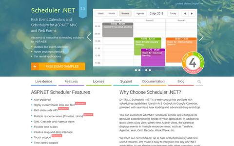 Screenshot of Home Page scheduler-net.com - ASP.NET Scheduler   Event Calendar for ASP.NET MVC/Web Forms - DHTMLX - captured Feb. 20, 2016
