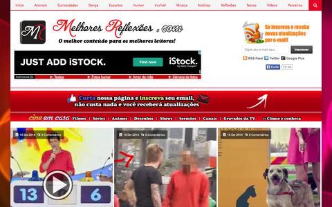 Screenshot of Home Page melhoresreflexoes.com - Melhores Reflexões - captured Sept. 19, 2014