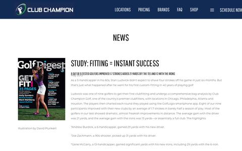Screenshot of Press Page clubchampiongolf.com - News | Club Champion is the #1 premium golf club fitter - captured Dec. 14, 2018