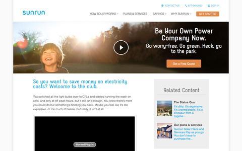 Screenshot of sunrun.com - Why You Should Go Solar   Residential Solar Power   Sunrun - captured March 31, 2016