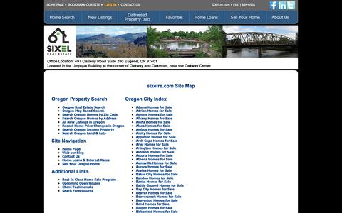 Screenshot of Site Map Page sixelre.com - Sixel Real Estate - captured Oct. 18, 2018