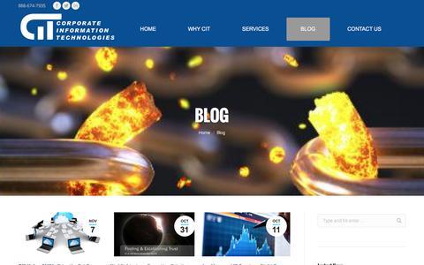 Screenshot of Blog corp-infotech.com - Blog - CORPORATE INFORMATION TECHNOLOGIES - captured Nov. 12, 2016
