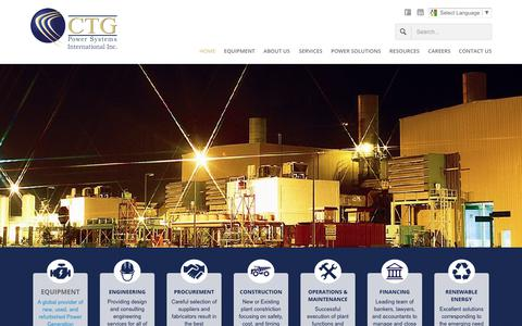 Screenshot of Home Page ctgpowersystems.com - CTG Power Systems - Home - captured July 10, 2017