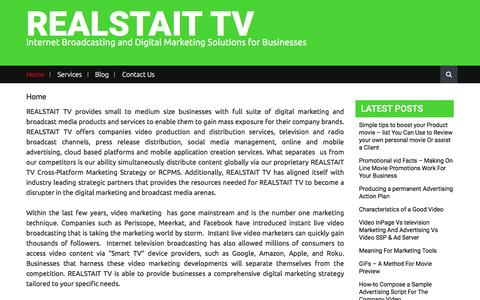 Screenshot of Home Page realstait.tv - REALSTAIT TV – Internet Broadcasting and Digital Marketing Solutions for Businesses - captured Nov. 29, 2016