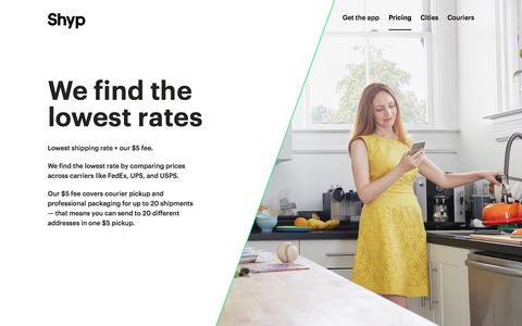 Shyp | We find the lowest rates