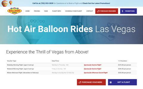 Screenshot of Pricing Page vegasballoonrides.com - Las Vegas Hot Air Balloon Rides   Flight Information - captured June 18, 2017