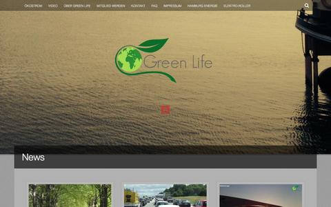 Screenshot of Press Page mygreenlife.de - News | Green Life e.V. - captured Oct. 3, 2014