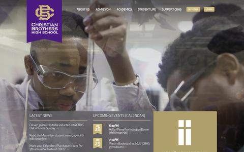 Screenshot of Home Page cbhs.org - CBHS Homepage - captured Jan. 27, 2016