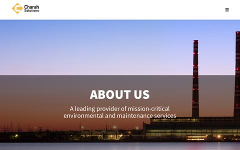 Screenshot of About Page charah.com - About Us |  Charah® Solutions - captured Sept. 27, 2018