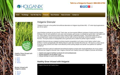 Screenshot of holganix.com - Granular - captured March 19, 2016