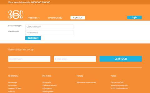 Screenshot of Login Page droomhuis360.nl - Droomhuis360 - captured June 5, 2017