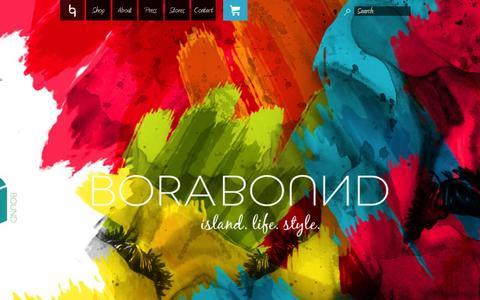 Screenshot of Home Page borabound.com - Borabound - captured Sept. 19, 2015