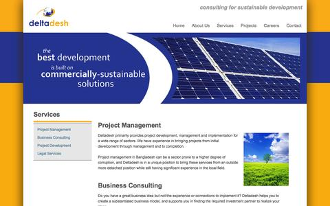 Screenshot of Services Page deltadesh.com - Services - captured Nov. 3, 2014