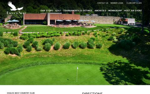 Screenshot of Maps & Directions Page clubcorp.com - Directions & Hours | Eagle's Nest | Phoenix MD - captured Oct. 22, 2018
