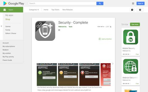 Security - Complete - Apps on Google Play
