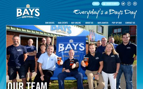 Screenshot of Team Page baysbrewery.co.uk - Our Team - Bays Brewery - captured Nov. 6, 2018