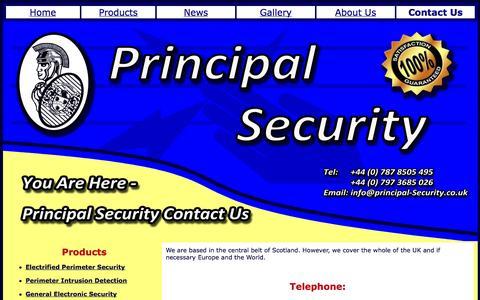 Screenshot of Contact Page principal-security.co.uk - Contact - captured Oct. 3, 2014