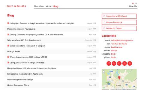 Screenshot of Blog builtinbruges.com - Blog — Built In Bruges - captured Sept. 30, 2014