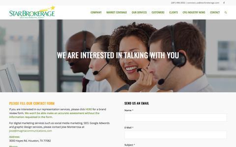 Screenshot of Contact Page starbrokerage.com - Contact – Star Brokerage - captured Oct. 24, 2017