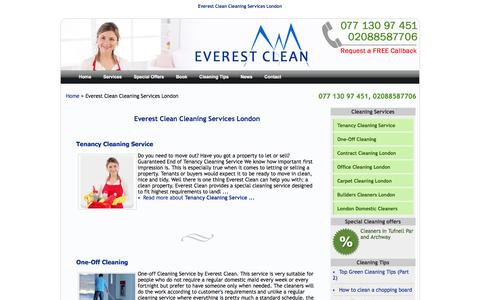 Screenshot of Services Page everestclean.com - Everest Clean Cleaning Services London - Domestic Cleaning Company London - Cleaning Agency -   Home Cleaners - captured Dec. 12, 2015