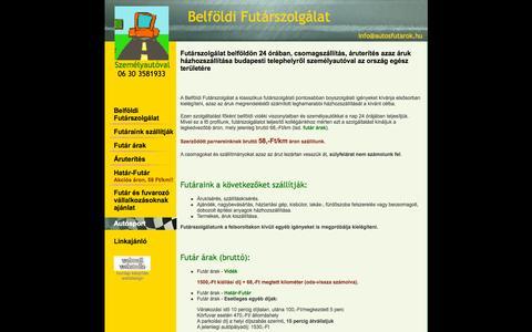 Screenshot of Home Page autosfutarok.hu - Futár szolgálat belföldön Belföldi futárszolgálat - captured Oct. 12, 2015