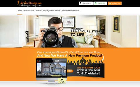 Screenshot of Home Page myvisuallistings.com - My Visual Listings - Real Estate Virtual Tours - captured Sept. 23, 2014
