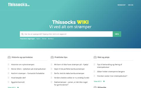 Screenshot of Blog thissocks.dk - Thissocks the blog – En blog om strømper, mode og happiness - captured Oct. 21, 2018