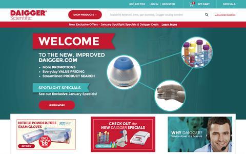 Screenshot of Home Page daigger.com - Homepage - captured Jan. 7, 2016