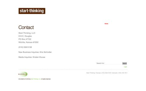 Screenshot of Contact Page start-thinking.com - Contact | Start-Thinking - captured Oct. 18, 2018
