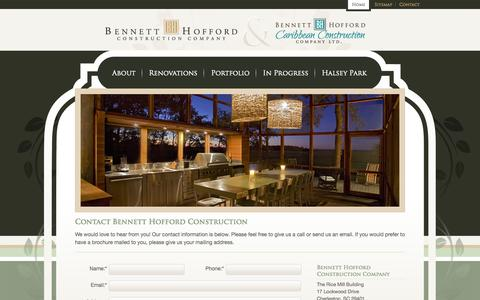 Screenshot of Contact Page bennetthoffordconstruction.com - Contact Bennett Hofford Construction - captured Oct. 5, 2014