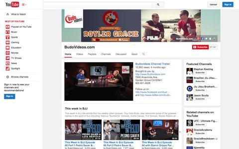 Screenshot of YouTube Page youtube.com - BudoVideos.com  - YouTube - captured Oct. 23, 2014