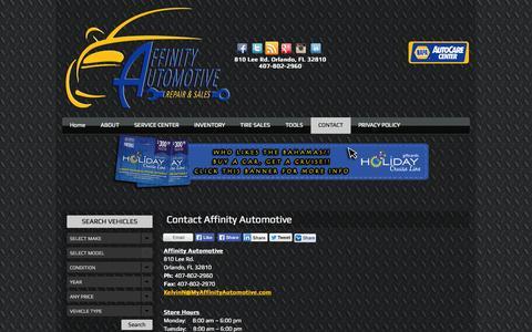 Screenshot of Contact Page affinityautomotive.com - Contact Affinity Automotive | Affinity AutomotiveAffinity Automotive - captured Sept. 30, 2014